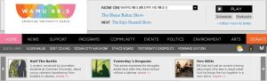 WAMU 88.5 home page on May 8, 2013