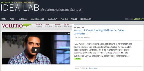 A screen capture of Cohen's story on the PBS Idea Lab homepage