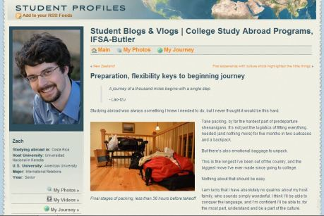 """Preparation, flexibility keys to beginning journey"" on IFSA-Butler's blog"