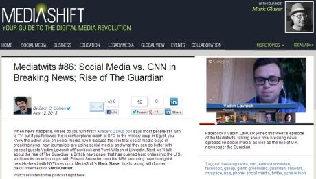 Mediatwits #86: Social Media vs. CNN in Breaking News; Rise of The Guardian