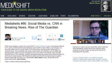 Mediatwits #86: Social Media vs. CNN in Breaking News; Rise of The Guardian