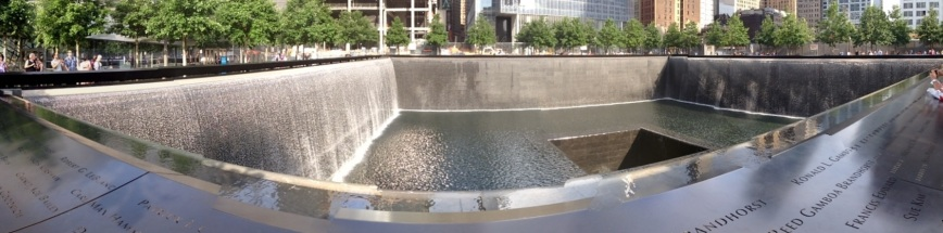 The World Trade Center memorial in June 2013. Photo by Zach C. Cohen.