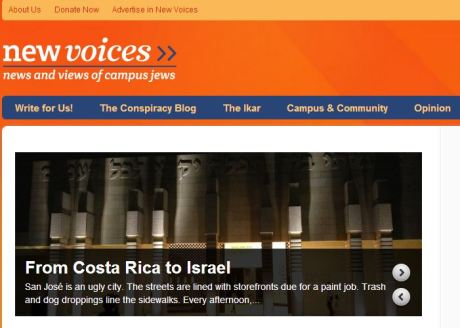 Screenshot of my story on the New Voices home page