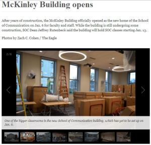 The Eagle 1.13.14 McKinley Building opens