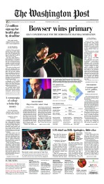 An edition of The Washington Post's A1 on April 2, 2014